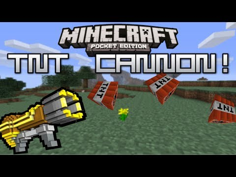 HOW TO MAKE A TNT CANNON IN MCPE   Minecraft PE TNT Cannon Tutorial