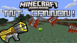 HOW TO MAKE A TNT CANNON IN MCPE | Minecraft PE TNT Cannon Tutorial