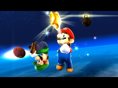 Super Mario Galaxy 100% - Part 19 - All Luigi Letters / Green Stars / Boo's Boneyard Galaxy