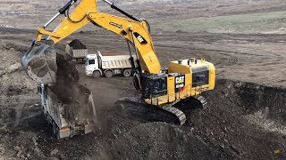 Cat 6015B Excavator Loading Coal On Trucks - Sotiriadis Brothers