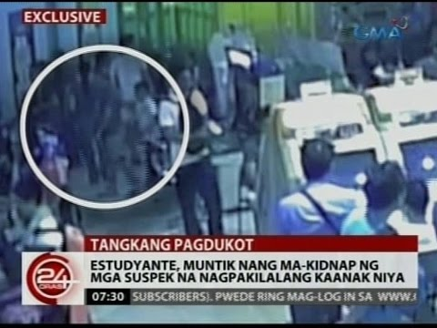 24Oras: Exclusive: Estudyante muntik nang ma-kidnap ng mga suspek...