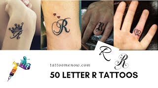 50 Letter R Tattoo Designs, Ideas and Templates