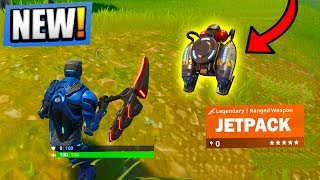 NEW LEGENDARY JETPACK GAMEPLAY in FORTNITE UPDATE SOON! Top Player (Fortnite Battle Royale)