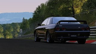 Godzilla takes on the Nurburgring! R32 GT-R Bridge to Gantry! - Assetto Corsa