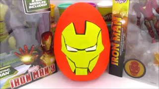 Iron Man Giant Playdoh Surprise Egg Avengers Age of Ultron with Cool Surprise Toys