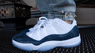 Air Jordan 11 Low Navy Snakeskin w/On Foot UNDER RETAIL!