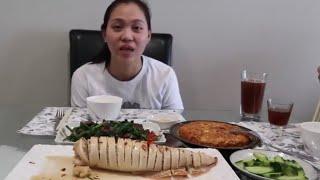 Vlog 490 ll Mực Ống Khủng Lồ Nhồi Thịt Chiên Nước MẮm