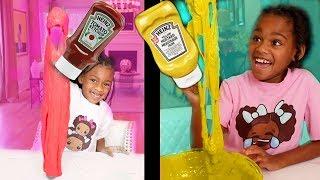 Don't Choose The Wrong Ketchup vs Mustard Slime !