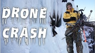 Drone destroyed on Ice Water Fall Crash :/