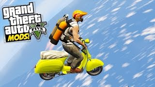 GTA 5 Max Speed! Faggio Flight! Leaving the map boundaries (Grand Theft Auto 5)