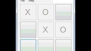 Visual Studio Winform Tic Tac Toe Tutorial Example (C#)