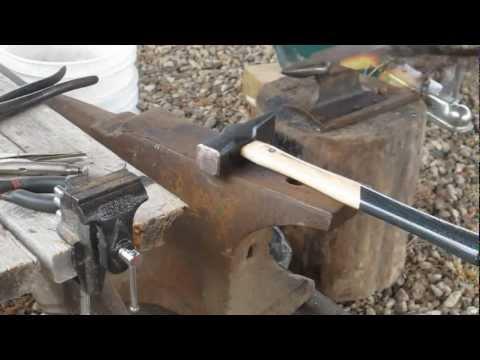 Blacksmithing Part 11 Forging a Knife Step 1.wmv