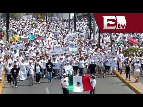 Marcha por la paz y contra la inseguridad en Tampico, Tamaulipas/ Gloria Contreras
