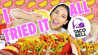 I Eat EVERYTHING On The TACO BELL Menu (15,000 CALORIES!!) 🌮🌯 | Mar