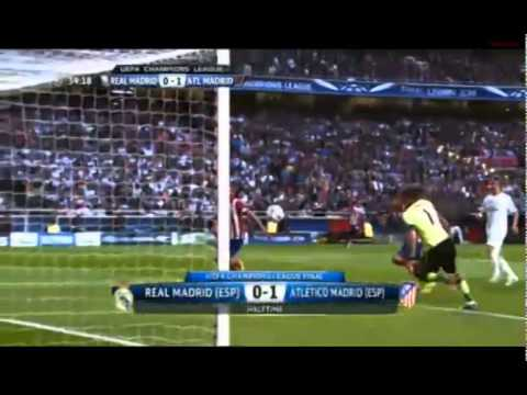 Real Madrid vs Atletico Madrid : Champions League Final Half Time Highlights (24 May 2014)