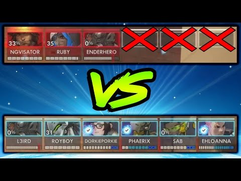 3 Grandmasters vs 6 Golds (3v6) - Who Will Win? - Overwatch