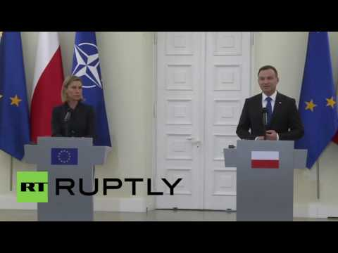 Poland: EU foreign policy chief visits Warsaw ahead of NATO summit