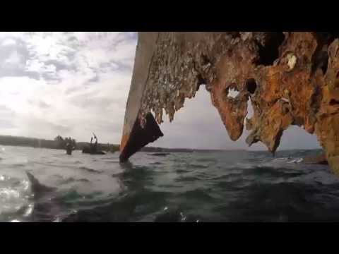 Climbing A Shipwreck In San Andres, Colombia