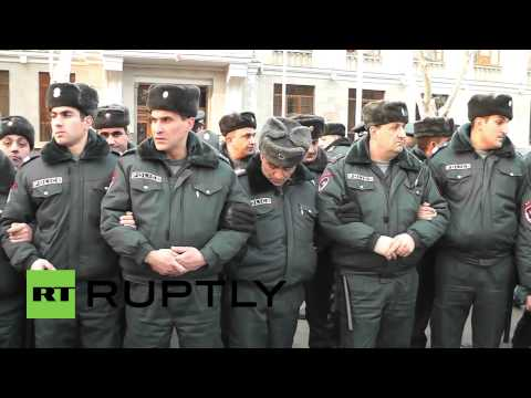 Armenia: Heated scenes at Russian Embassy as protests erupt over slain family