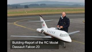 Building Report RC Model Dassault Falcon 20 (1:4.5)