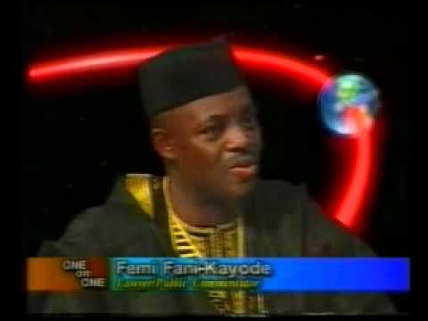 Chief Femi Fani-Kayode talks about President Olusegun Obasanjo on One on One - 2002 Pt 1.flv