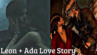 All Ada & Leon Saving Each Other & Flirting Cutscenes + Kiss - Resident Evil Series