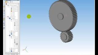 Цилиндрическая зубчатая передача в Компас 3D