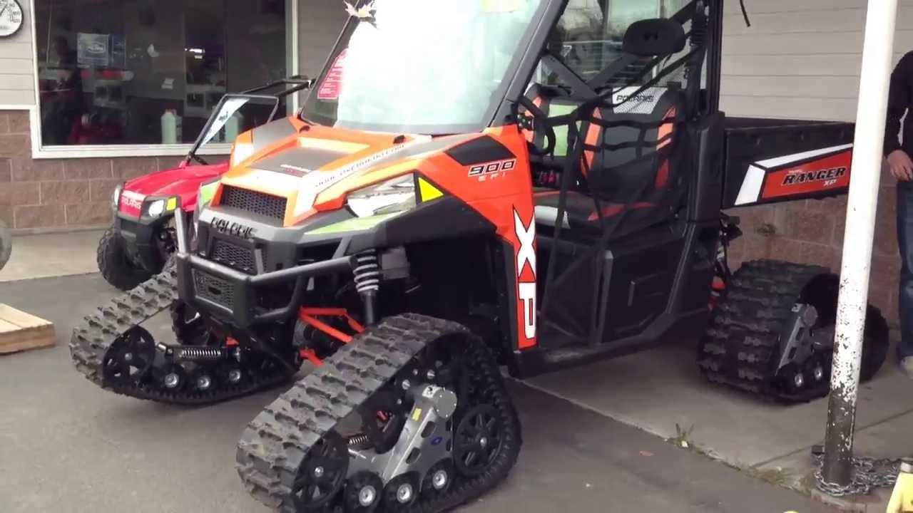 2013 Polaris Ranger Xp On Tracks Youtube