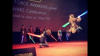 Saberfighting on Star Wars Celebration 2015 broadcast in Moscow
