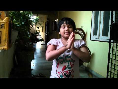 Girl Singing Poems in 3 Languages Telugu Hindi English