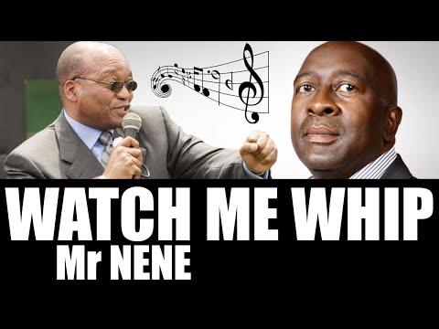 Jacob Zuma singing Watch me whip Mr Nene