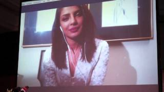 Priyanka Chopra talks to Dubai journalists via Skype
