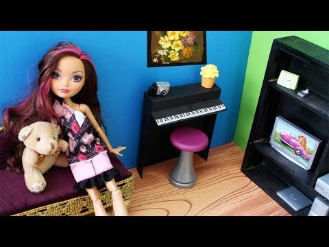 How to make a doll piano- Doll Crafts