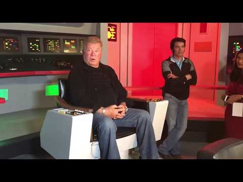 William Shatner at Star Trek: The Original Series Set Tour