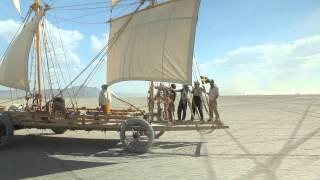 windwagon cruising in Black Rock Desert