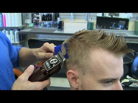 Men's Blonde Fade haircut / mens hairstyle