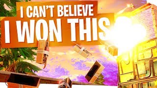 I can't believe I won this... - Crazy Fortnite Solo Win