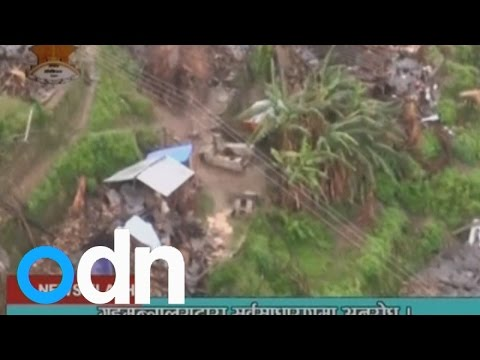 Aerial footage shows extent of damage from Nepal earthquake