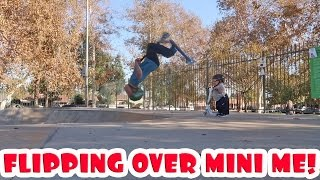 BACK FLIPPING OVER MINI ME!