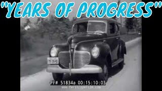 1941 CHRYSLER PLYMOUTH AUTOMOBILE COMPANY CAR DESIGN PROMOTIONAL FILM