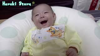 赤ちゃん 生後三か月・動くものを視線で追うようになりました - 日台ハーフ赤ちゃん・ハルキの成長記録