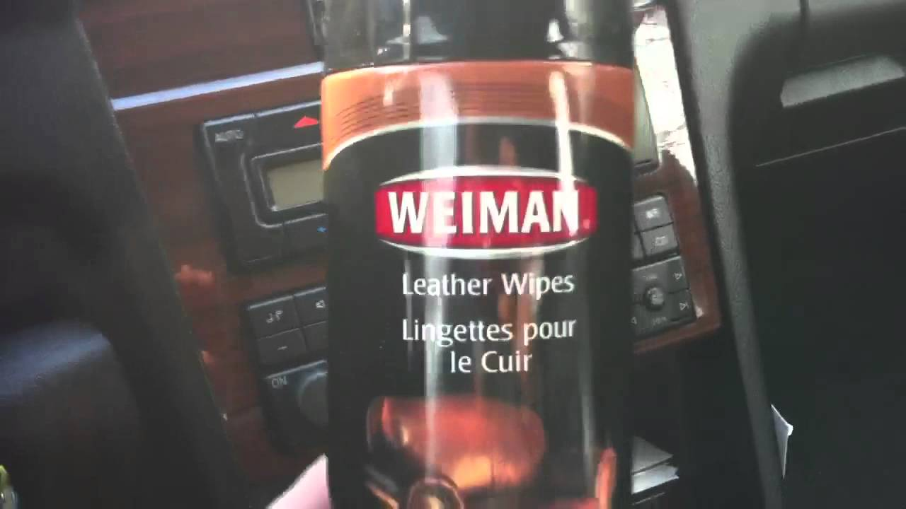 weiman leather wipes amazing value and results for car interior detailing youtube. Black Bedroom Furniture Sets. Home Design Ideas