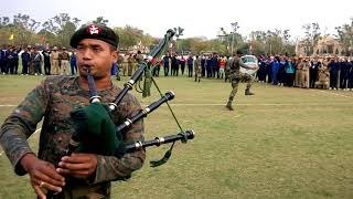 Pipe Band team of Assam Rifles during practice for All India Band Competition