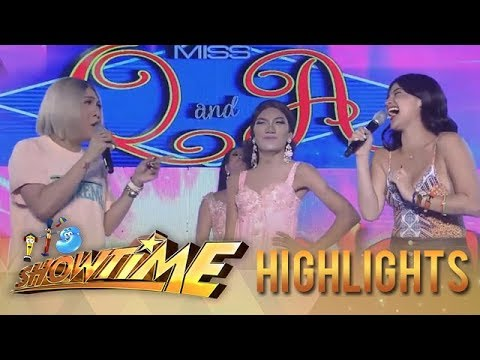 It's Showtime Miss Q & A: Contestant number two's havey answer