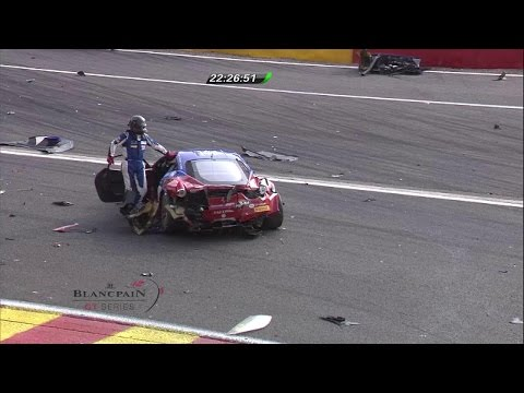 Simon Knap Massive Crash @ 2014 Spa 24H