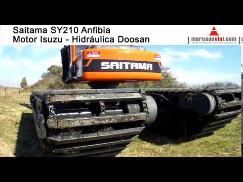 Excavadoras sobro orugas pontones flotantes en pantano en MercadoVial.com Argentina