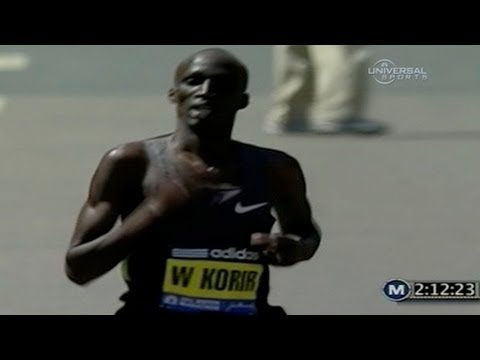 Wesley Korir wins 2012 Boston Marathon (Race Highlights)
