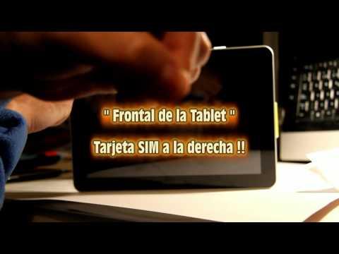 Insertar tarjeta SIM. Tablet Samsung Galaxy Tab 10.1