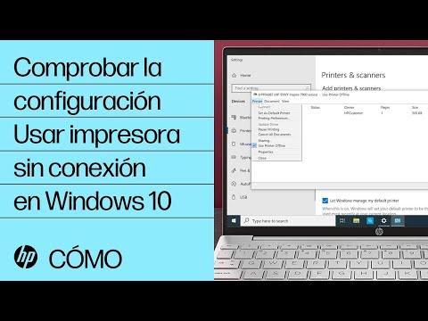 Comprobar la configuración Usar impresora sin conexión en Windows 10 | HP Computers | HP