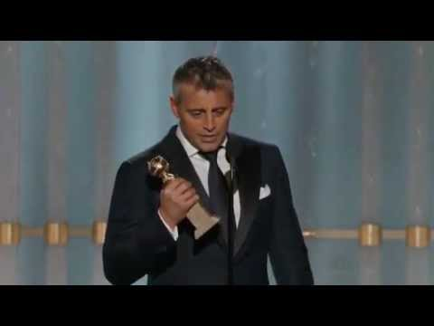 Matt LeBlanc winning a Golden Globe 2012 HQ